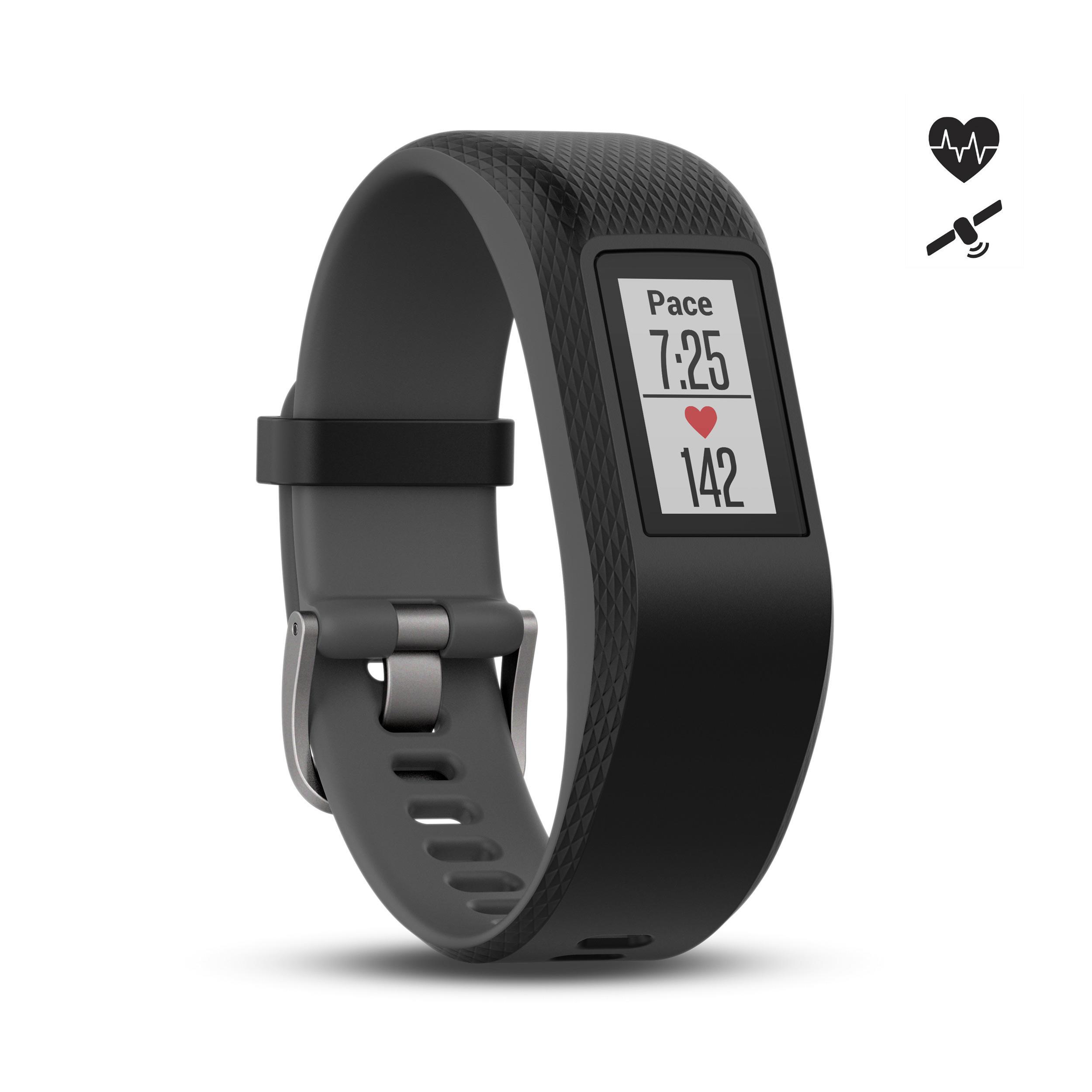 Fitnessarmband vívosport mit Herzfrequenzsensor am Handgelenk grau | Schmuck > Armbänder > Fitness-Armbänder | Garmin