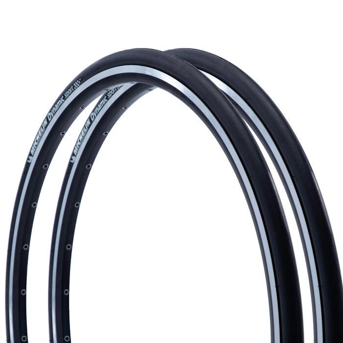 2 Drahtreifen Rennrad Dynamic Sport 700×25 (25-622) schwarz