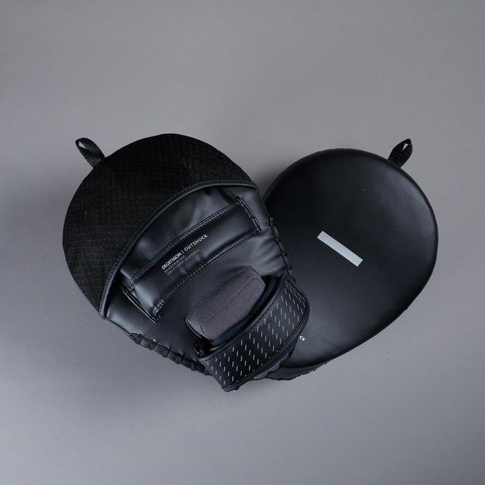 Boxpratzen 500 gekrümmt schwarz mit Spanngurt