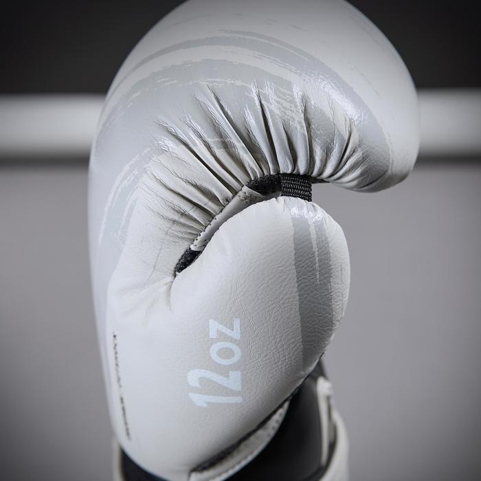 gants de boxe 300 beige , gants d'entraînement débutant homme ou femme