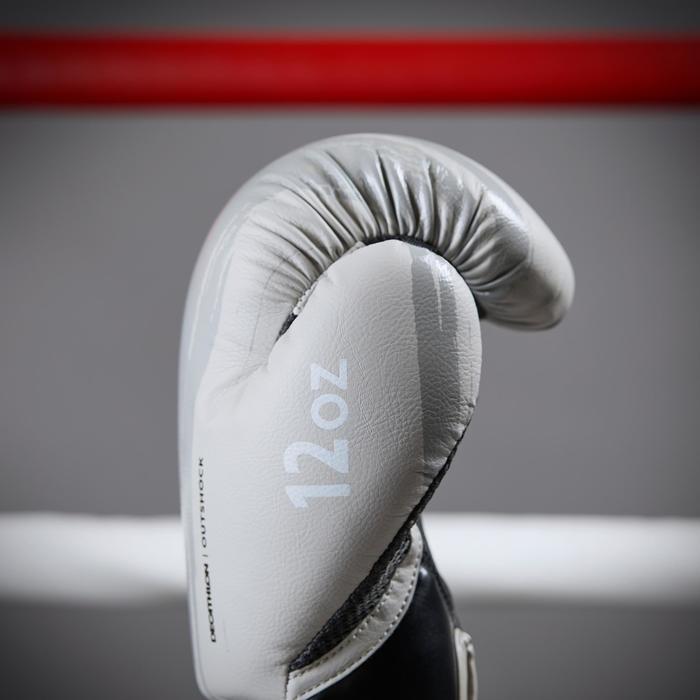 Guantes de boxeo 300 beige guantes entrenamiento nivel iniciación hombre o mujer
