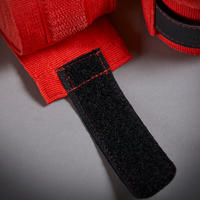 "BANDAGES DE BOXE 500 13'1"" ROUGES"
