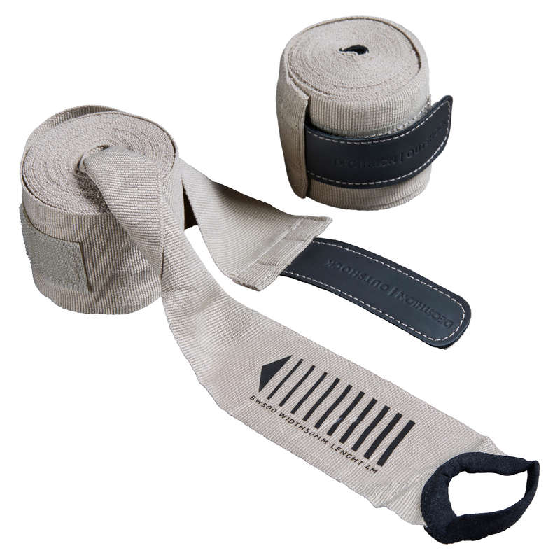 WRAPS AND UNDER GLOVES Boxing - 500 Boxing Wraps - Beige OUTSHOCK - Boxing
