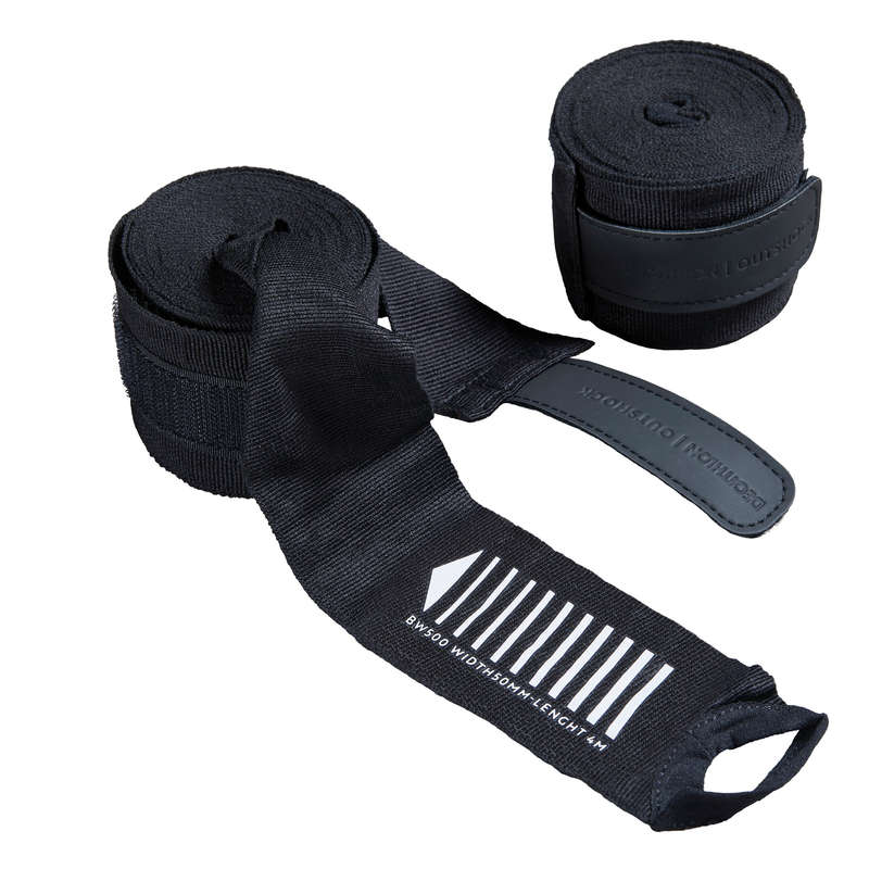 WRAPS AND UNDER GLOVES Boxing - 500 Boxing Wrap - Black OUTSHOCK - Boxing