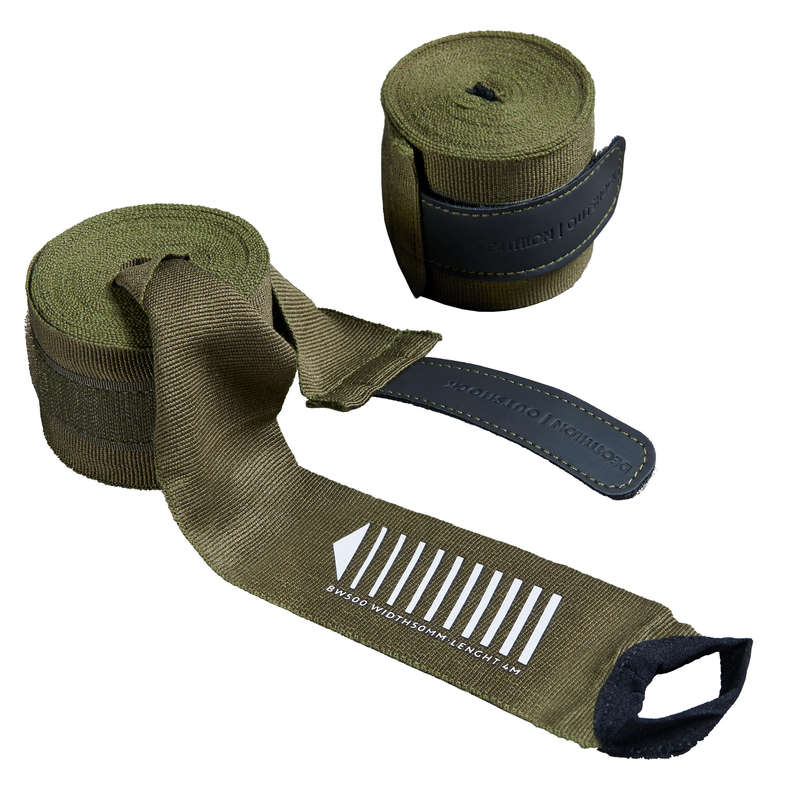 WRAPS AND UNDER GLOVES Boxing - 500 Boxing Wrap - Khaki OUTSHOCK - Boxing