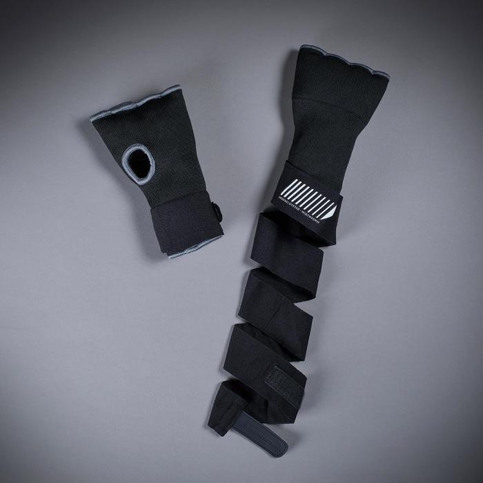 Binnenhandschoenen 500 met polsbescherming, zwart