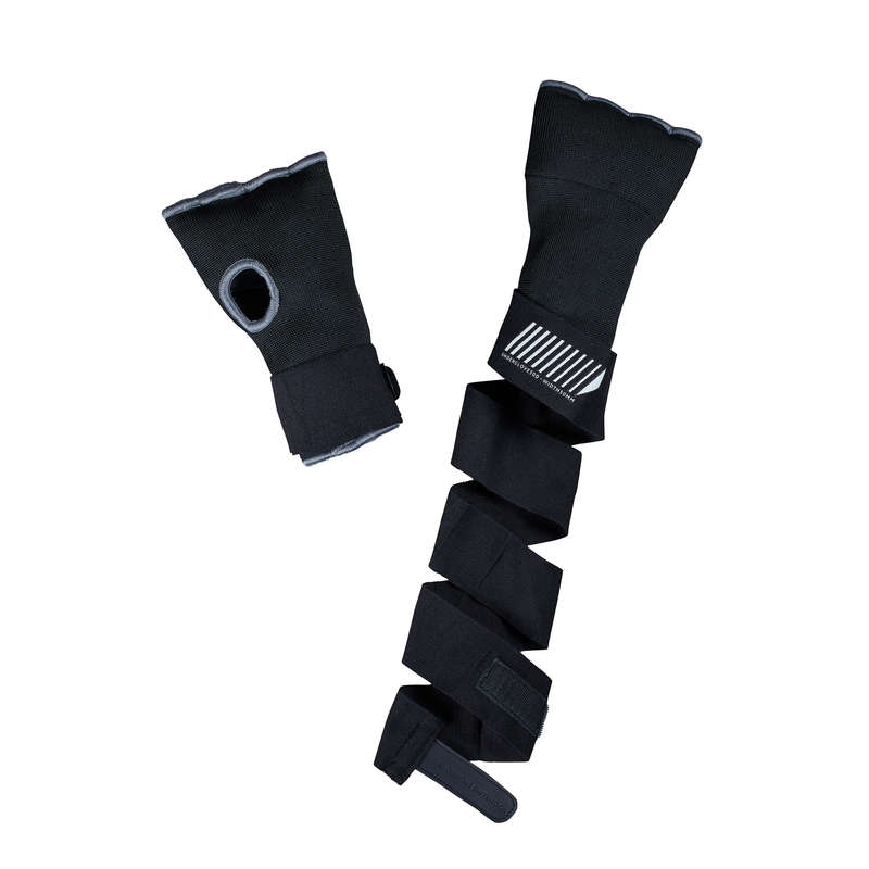 WRAPS AND UNDER GLOVES Boxing - 500 Boxing Inner Gloves Black OUTSHOCK - Boxing