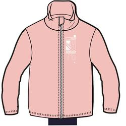 Trainingsanzug Warmy Zip 100 Babyturnen rosa