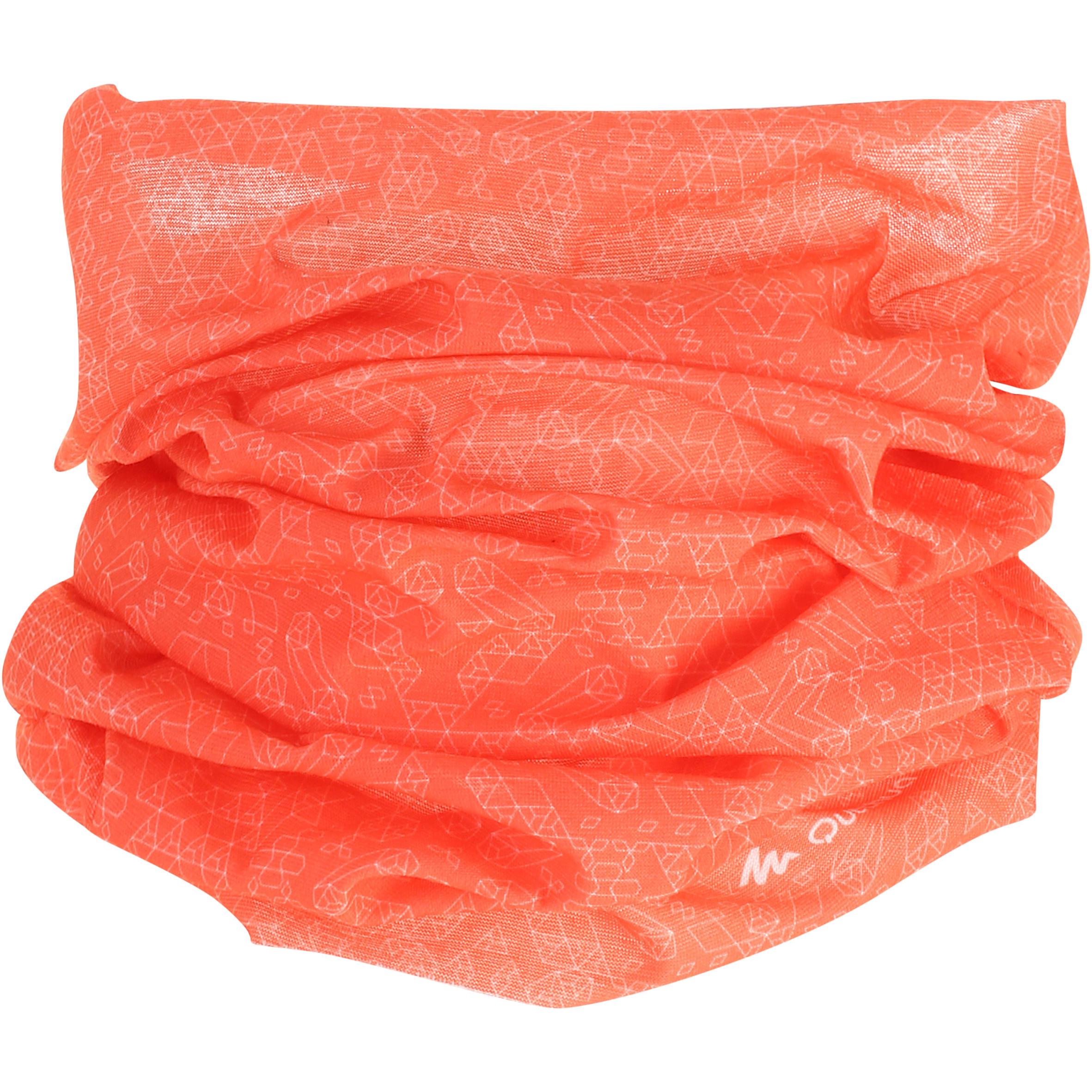 Multi-position hiking headband coral