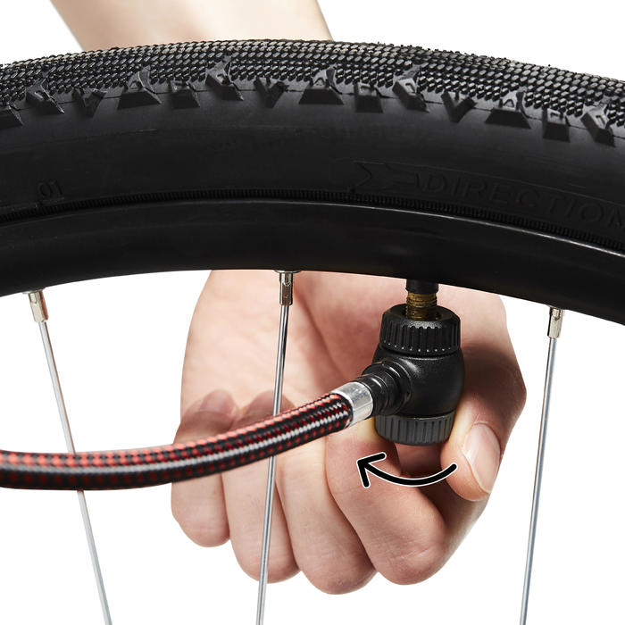 Bomba Aire Manual Ciclismo Btwin Negro Polivalente