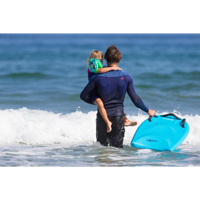Bodyboard Tandem enfant adulte WEEZMI bleu avec poignées