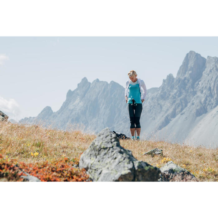 Dames T-shirt voor speed hiking FH500 Helium zwart