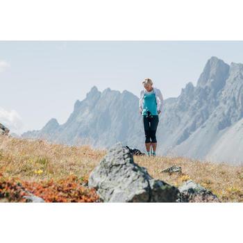 T-shirt de randonnée rapide Femme FH500 Helium Noir