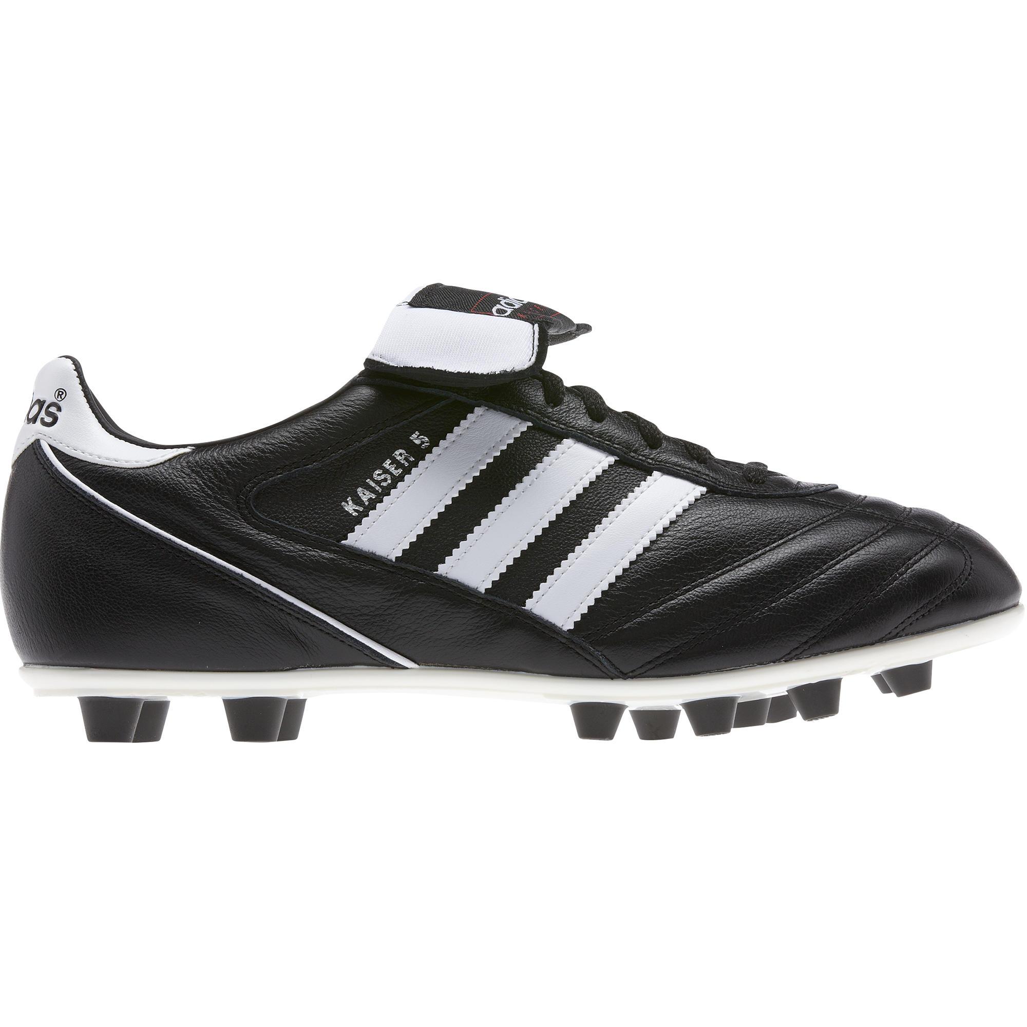 0d0527641e1b8 Botas de fútbol adulto Kaiser Liga FG negro blanco Adidas
