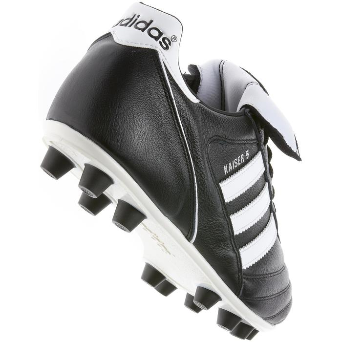 Botas de fútbol adulto Kaiser Liga FG negro blanco