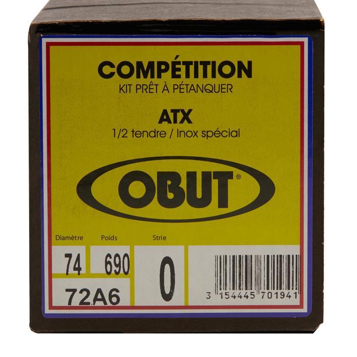Boulekugeln Obut ATX glatt Allroundkugeln Wettkampf 3 Kugeln halbweich