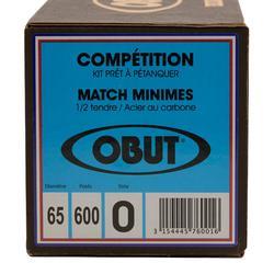 Boulekugeln Obut Match Minimes Allroundkugeln Wettkampf 3 Kugeln halbweich