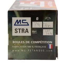 Boulekugeln MS STRA geriffelt Allroundkugeln Wettkampf 3 Kugeln weich