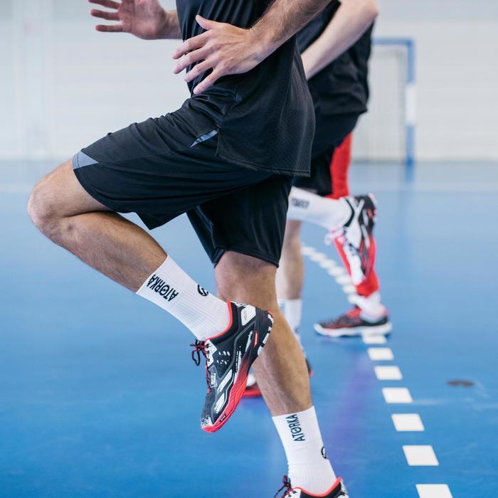 Handballschuhe H500 schwarz/rot/weiß