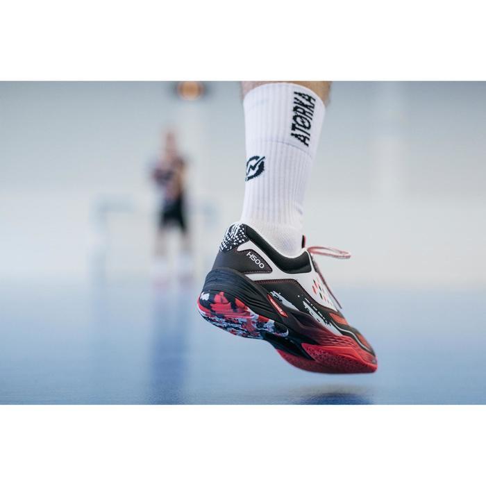 Handballsocken weiß/schwarz
