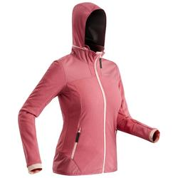Women's fleece snow hiking jacket SH500 X-Warm - Pink