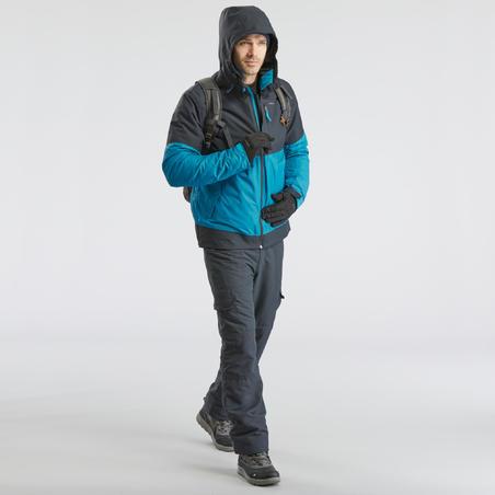 Pantalon de randonnée neige homme SH100 ultra-warm gris.