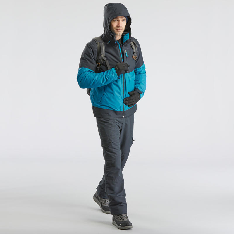 SH100 Men's ultra-warm grey snow hiking trousers.