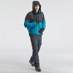 SH100 Men's Ultra-Warm Grey Snow Hiking Pants.