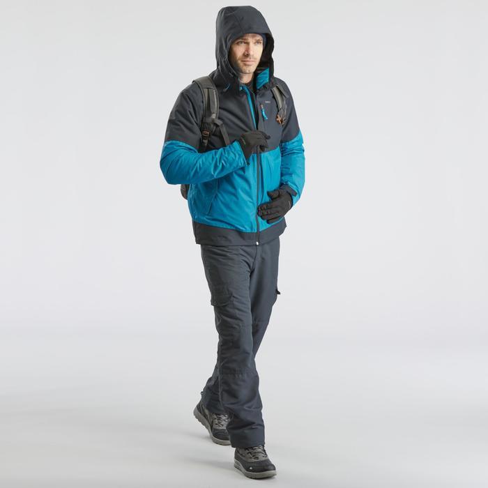 Warme wandelbroek heren SH100 Ultra-warm grijs