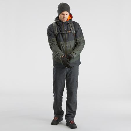 bottes de randonnée neige homme SH100 chaude mi-hauteur noires.