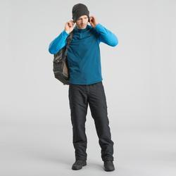 Herenshirt met lange mouwen voor hikes in de sneeuw SH100 Warm blauw