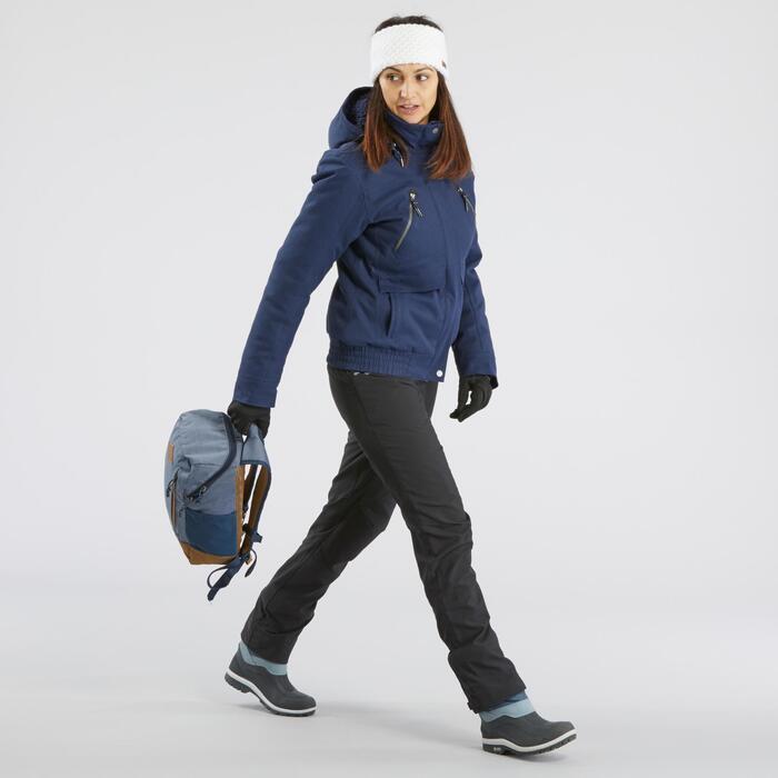 Wanderhose Winterwandern SH500 X-Warm Damen dunkelgrau