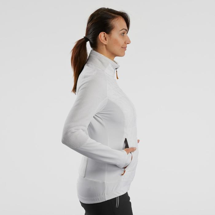 Hybridjacke Fleecejacke Winterwandern SH900 Extra-Warm Damen weiß