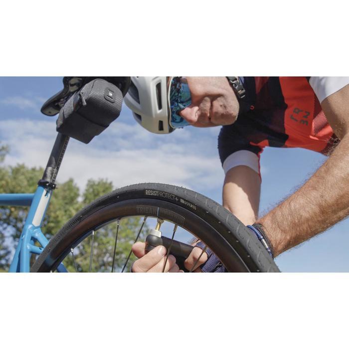 Bomba Aire Manual Ciclismo Btwin Compacta Gris Nube Doble Cabezal Inflado