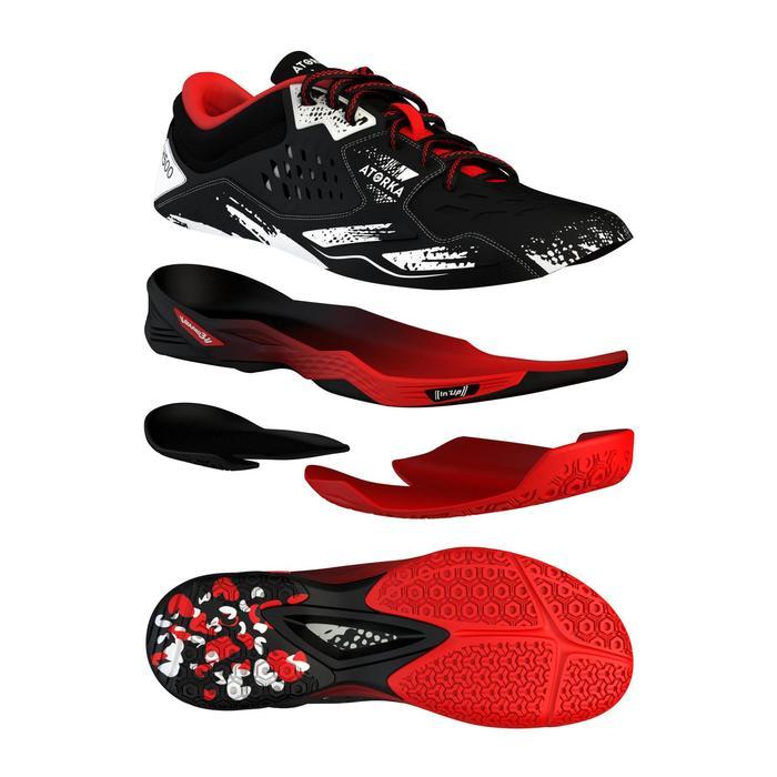 Handbalschoenen voor volwassenen H500 zwart/rood/wit