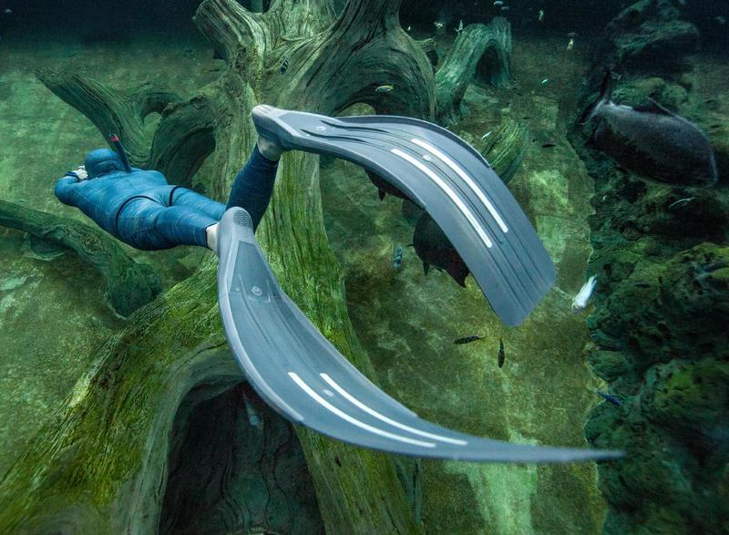 FRD 500 free-diving fins - storm grey