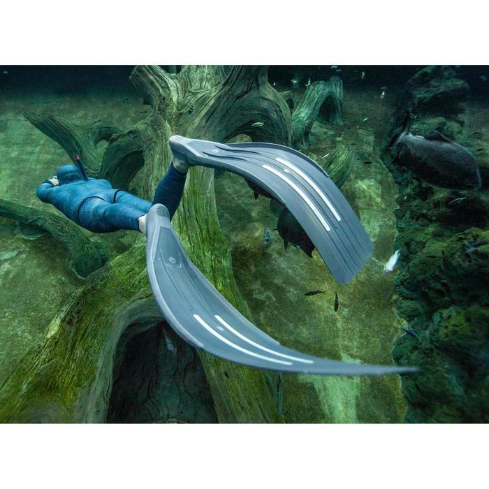 Snorkel voor vrijduiken FRD 500 soepel stormgrijs