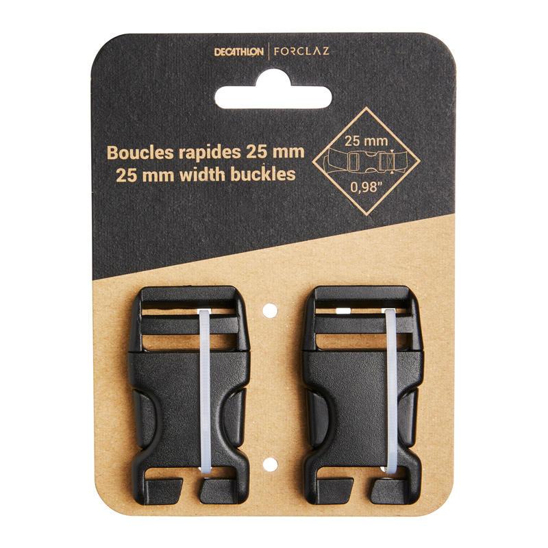 Ensemble de deux boucles à dégagement rapide de 25mm pour sac à dos