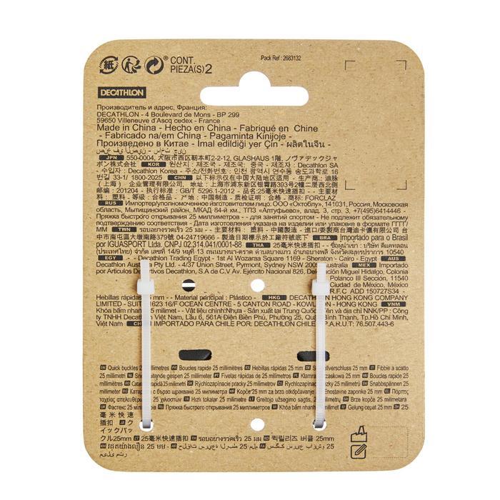 Steckschnallen für Rucksack 25mm 2er-Set