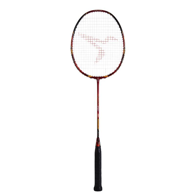 Raquette de Badminton Adulte BR 990 P tige rigide - Rouge/Orange