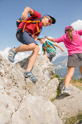 Kids' Hiking T-shirt MH100 - Burgundy Red 7-15 YEARS