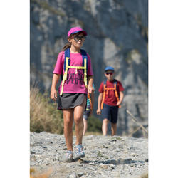Kids' Hiking Skort - MH100 - AGED 7 TO 15 - Grey and Coral