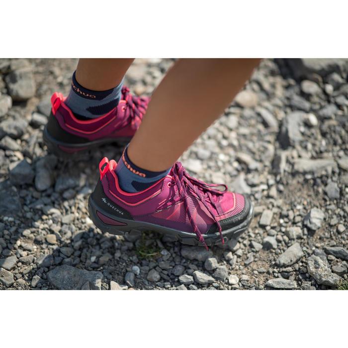 兒童款低筒健行鞋MH120(35號到38號)-灰紫色