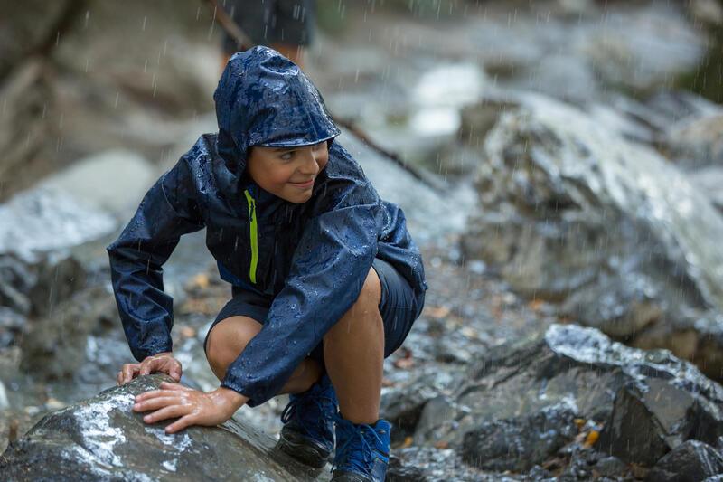 Kid's Raincoat MH100 - Navy Blue