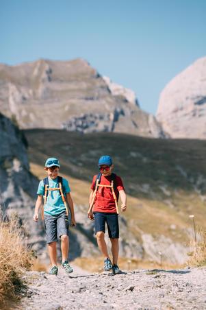 Kids' Hiking Cap MH100 - Green