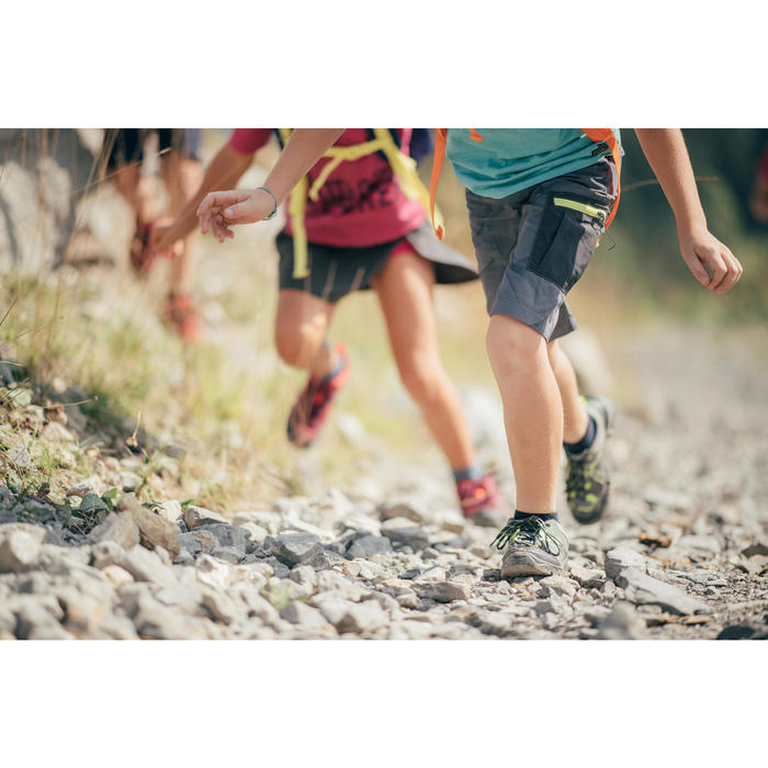 Lage wandelschoenen voor kinderen MH120 low veters grijs 35 tot 38