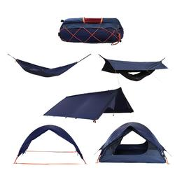 Multifunctionele tent (hangmat, shelter, tarp, tent… ) 2 personen blauw