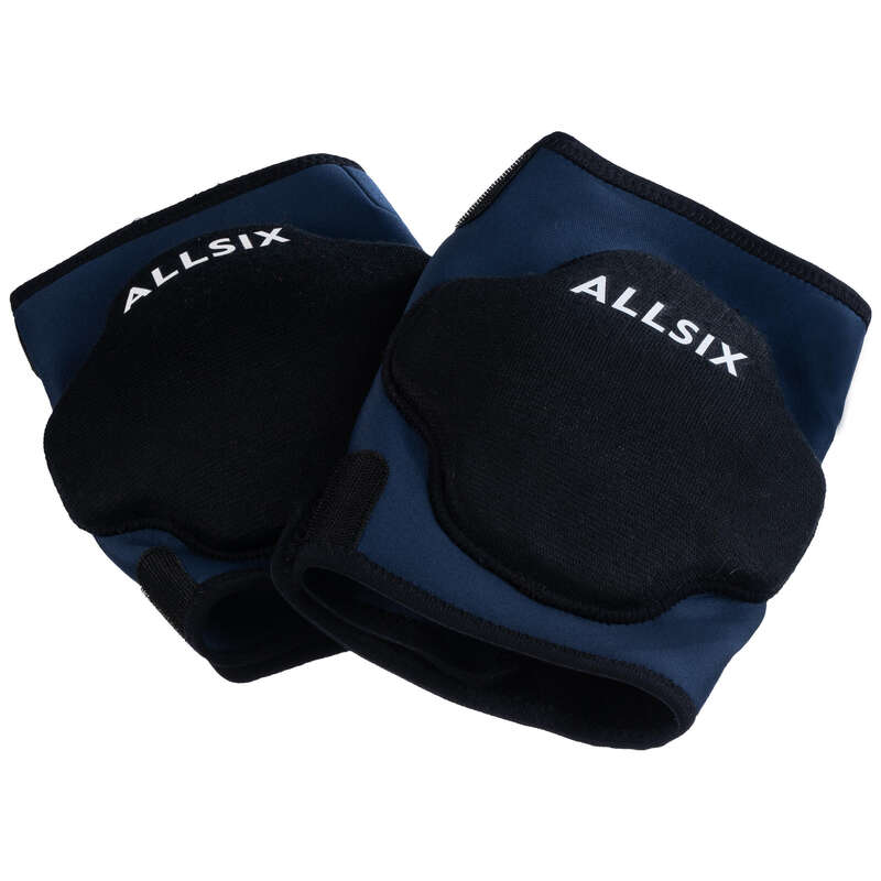 VOLLEY BALL KNEEPADS, ACCESSORIES Volleyball and Beach Volleyball - Adjustable VKP500 - Navy ALLSIX - Volleyball and Beach Volleyball