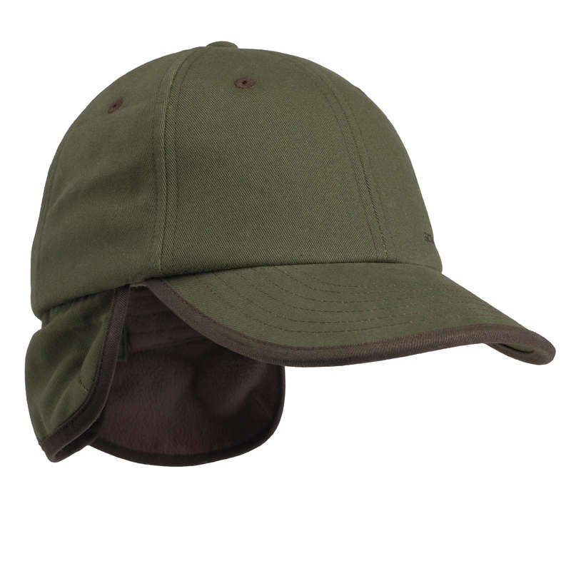 JUNIOR CLOTHING Shooting and Hunting - KIDS FLEECE CAP 100 GREEN SOLOGNAC - Hunting and Shooting Clothing