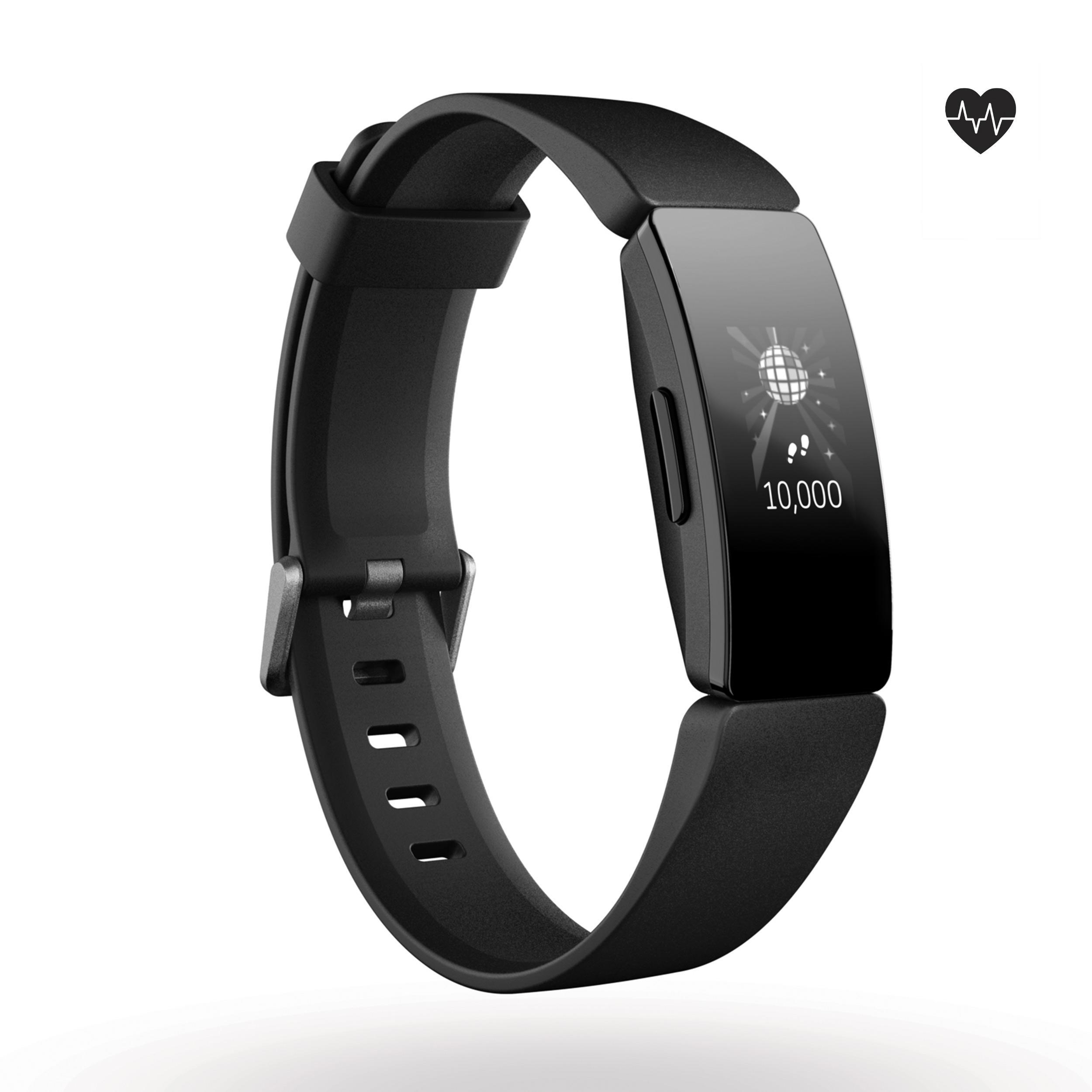 Fitnessarmband Inspire HR mit Herzfrequenzmessung am Handgelenk schwarz | Schmuck > Armbänder > Fitness-Armbänder | Fitbit